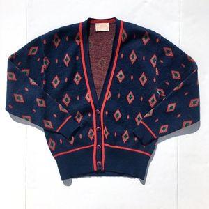 Vintage Pendleton Slouchy Cardigan Sweater sz M